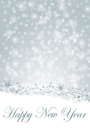 happy new year illustration with snowflakes illustration