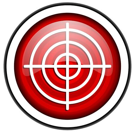 target red glossy icon isolated on white background Stock Photo - 16975355