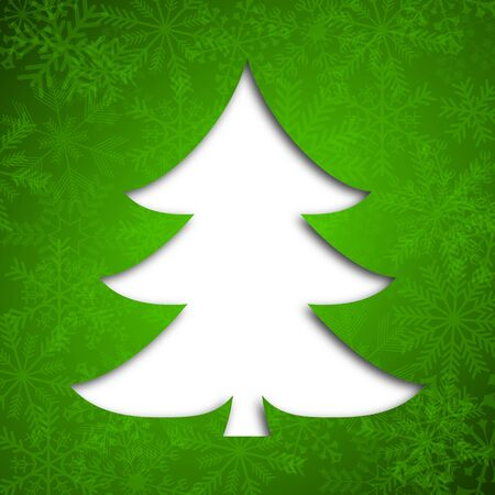 green christmas background with christmas tree Stock Photo - 17040072