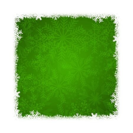 green christmas background with snowflakes Stock Photo - 17040076