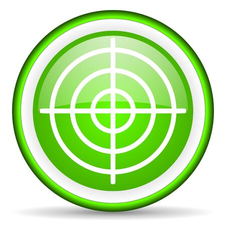 target green glossy icon on white background Stock Photo - 17066064