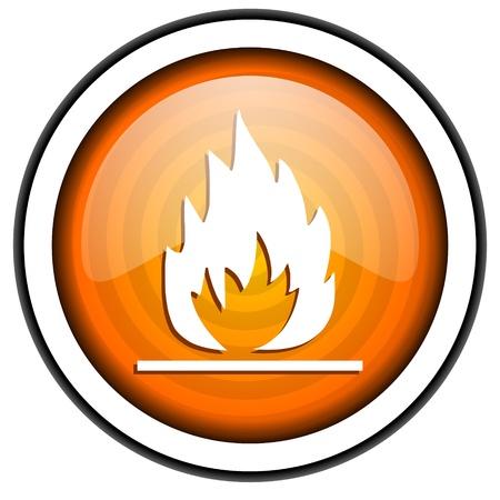 flames orange glossy icon isolated on white background photo