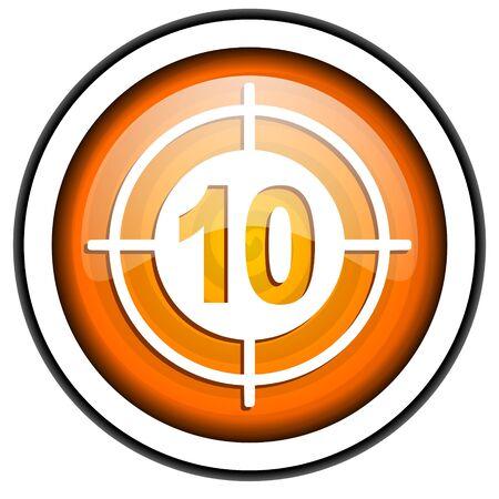 target orange glossy icon isolated on white background Stock Photo - 17067202