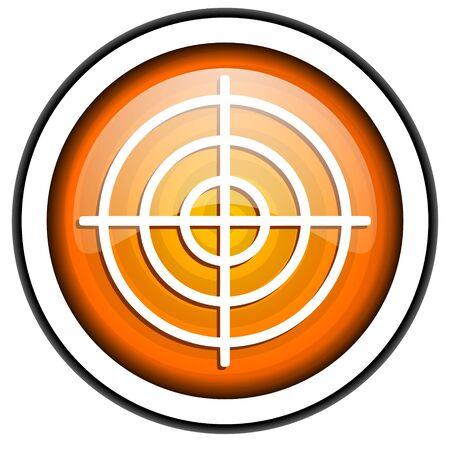 target orange glossy icon isolated on white background Stock Photo - 17067224