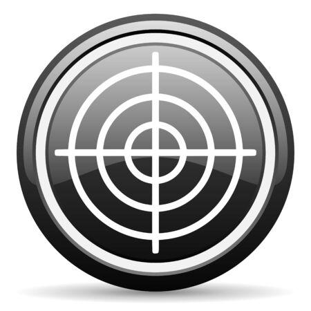 target black glossy icon on white background Stock Photo - 17087556