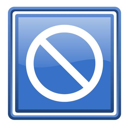 access denied blue glossy square web icon isolated Stock Photo - 17110051