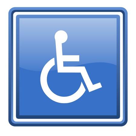 accessibilit�: accessibilit� blu lucido web quadrato icona isolato