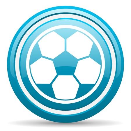 blue circle glossy web icon with shadow on white background illustration Stock Illustration - 17140152