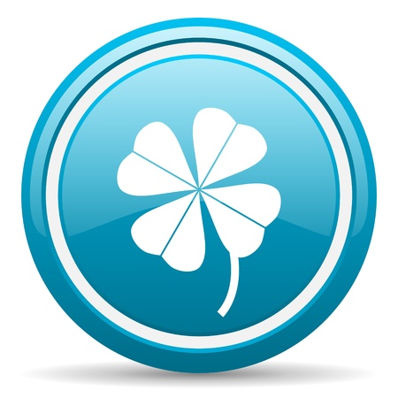 blue circle glossy web icon with shadow on white background illustration Stock Illustration - 17140013