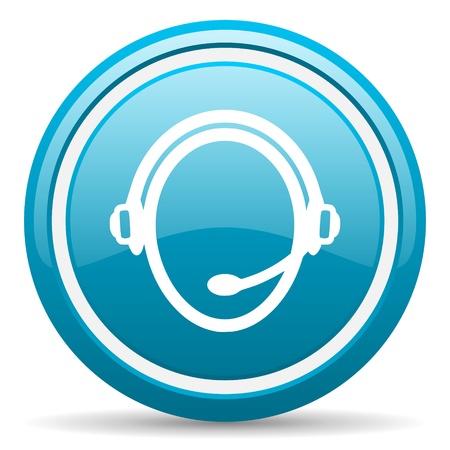 blue circle glossy web icon with shadow on white background illustration Stock Illustration - 17140019