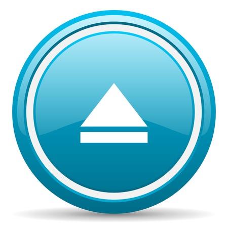blue circle glossy web icon with shadow on white background illustration Stock Illustration - 17138880