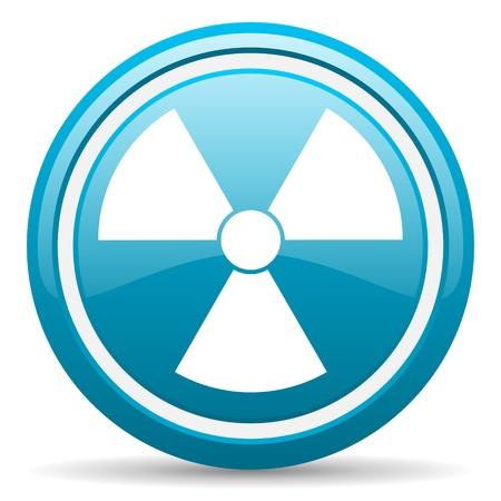 blue circle glossy web icon with shadow on white background illustration Stock Illustration - 17139256