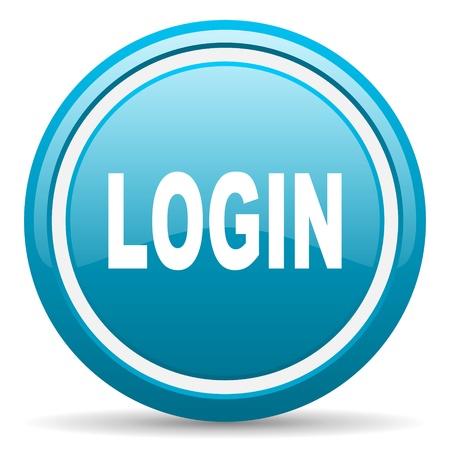 blue circle glossy web icon with shadow on white background illustration illustration