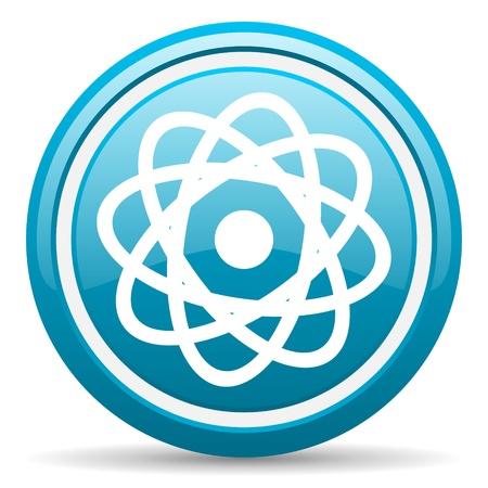 blue circle glossy web icon with shadow on white background illustration Stock Illustration - 17140118