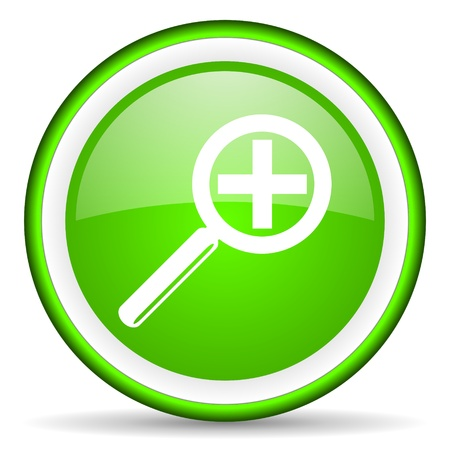 green circle glossy web icon with pictogram on white background Stock Photo - 17319065