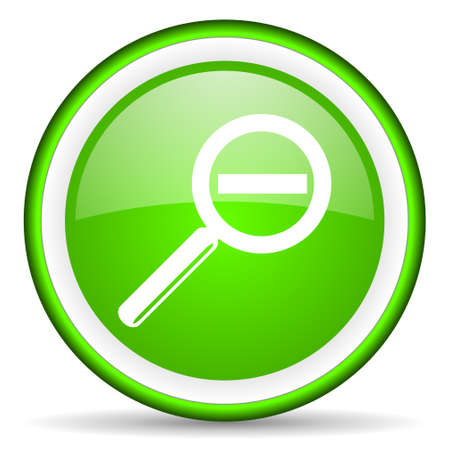green circle glossy web icon with pictogram on white background Stock Photo - 17319055