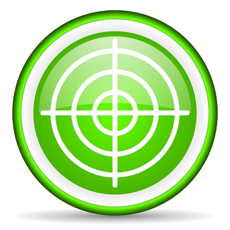 green circle glossy web icon with pictogram on white background Stock Photo - 17319146