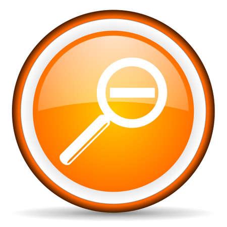 orange circle glossy web icon with pictogram on white background Stock Photo - 17318991