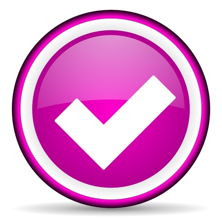 violet circle glossy web icon with pictogram on white background Stock Photo - 17318718