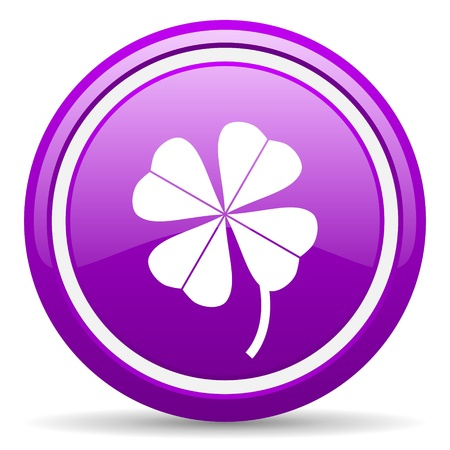 violet glossy circle web icon on white background with shadow Stock Photo - 17318586