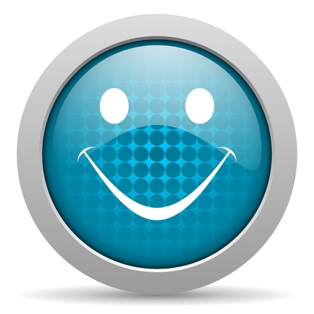 blue circle glossy web icon with pictogram on white background Stock Photo - 17428264