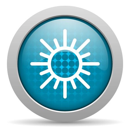 blue circle glossy web icon with pictogram on white background photo
