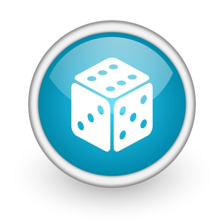 activity icon: blue circle glossy web icon with pictogram on white background