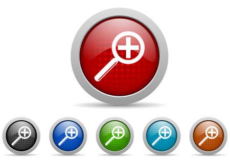 colorful web icons set on white background Stock Photo - 17426989