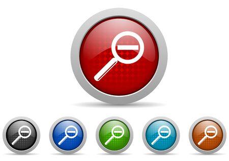 colorful web icons set on white background Stock Photo - 17426994