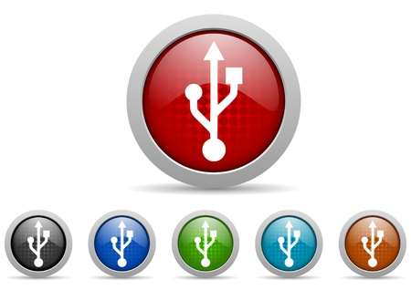 colorful web icons set on white background Stock Photo - 17426801