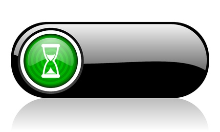 time black and green web icon on white background   photo