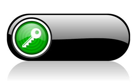 key black and green web icon on white background   photo