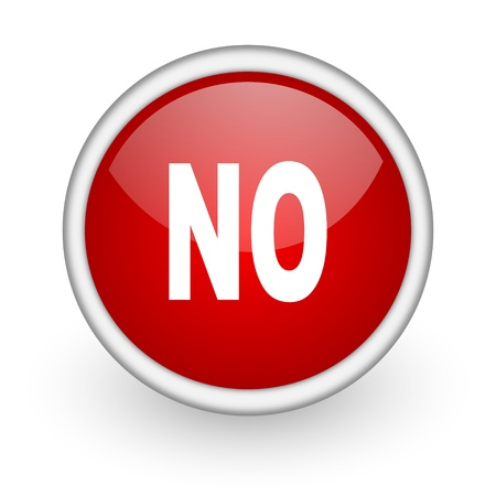no red circle web icon on white background Stock Photo - 17518598