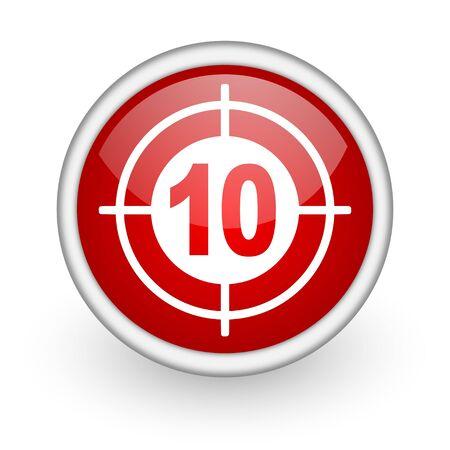 target red circle web icon on white background Stock Photo - 17519163