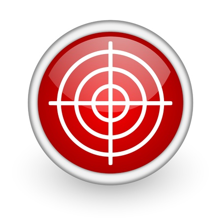 target red circle web icon on white background Stock Photo - 17519220
