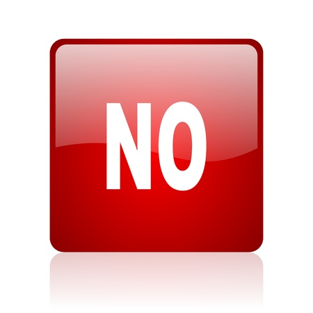 no red square glossy web icon on white background  photo