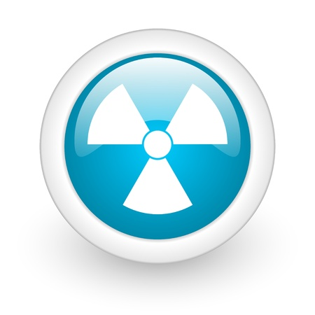 radiation blue circle glossy web icon on white background  photo