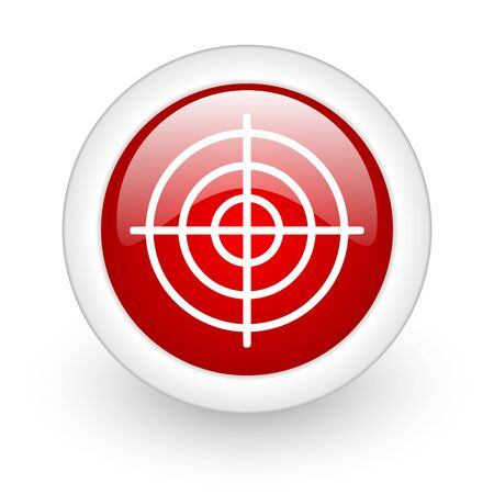 target red circle glossy web icon on white background Stock Photo - 17980561