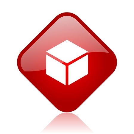 box red square glossy web icon Stock Photo - 18164970
