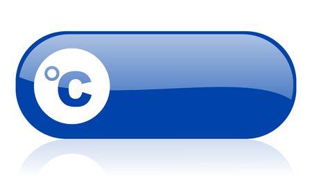 celsius: celsius blue web glossy icon