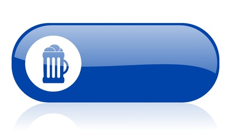 beer blue web glossy icon  Stock Photo - 18222873