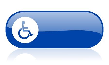 accessibilit�: accessibilit� web icona blu lucido