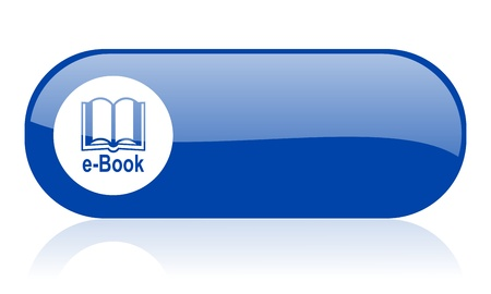 e-book blue web glossy icon   photo