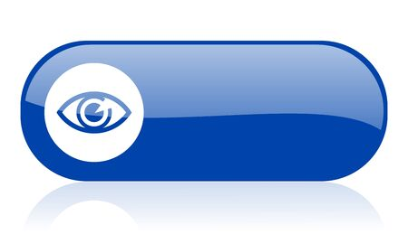 see a doctor: eye blue web glossy icon   Stock Photo