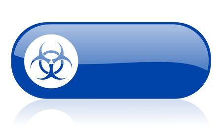 varez: virus blue web glossy icon   Stock Photo
