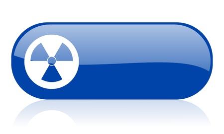 gamma radiation: radiation blue web glossy icon   Stock Photo