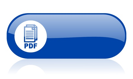 bibliography: pdf blue web glossy icon