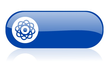 atom blue web glossy icon  Stock Photo - 18223114
