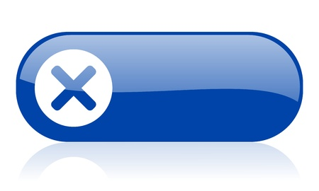 cancel blue web glossy icon Stock Photo - 18222151