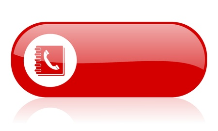 phonebook red web glossy icon